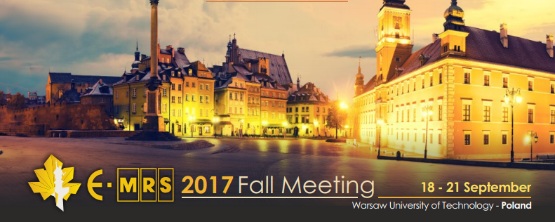 E-MRS Fall Meeting Symposium 2017