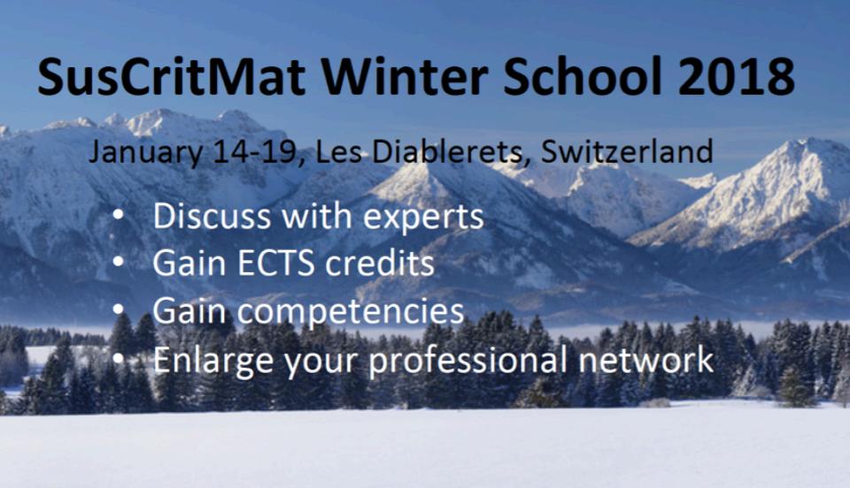 SusCritMat Winter School on SCRREEN