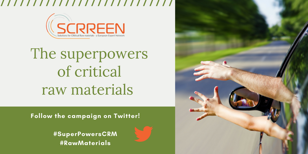 Social banner for SCRREEN online campaign, Superpowers of Critical Raw Materials